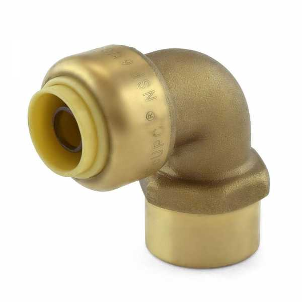 "3/8"" Push To Connect x 3/8"" FNPT Elbow, Lead-Free"