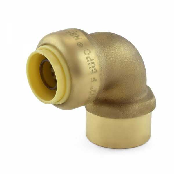 "1/2"" Push To Connect x 1/2"" FNPT Elbow, Lead-Free"