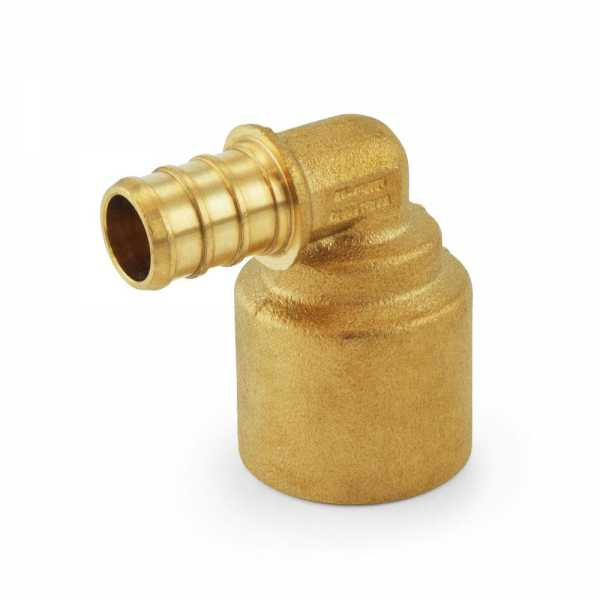 "1/2"" PEX x 3/4"" Copper Fitting Elbow, Lead-Free"