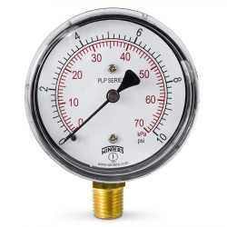 """0-10 psi Pressure Gauge, 2-1/2"""" Dial, 1/4"""" NPT"""