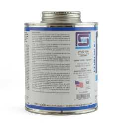 Primerless PVC Cement w/ Dauber, Medium-Body Fast-Set, Clear, 16oz