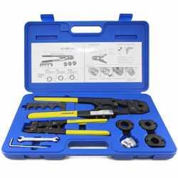 "Everhot PXT3202 PEX Crimp Tool Kit w/ Decrimper for sizes 3/8"", 1/2"", 5/8"" and 3/4"""