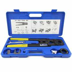 """Everhot PXT3203 PEX Crimp Tool Kit for sizes 1"""" and 1-1/4"""""""