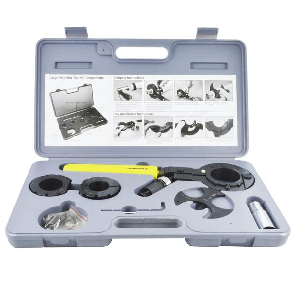 """PEX Crimp Tool Kit for sizes 1-1/4"""", 1-1/2"""" and 2"""""""