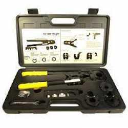 "PEX Crimp Tool Kit for sizes 1/2"", 5/8"", 3/4"" & 1"""