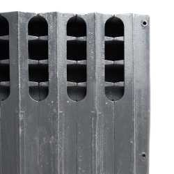 """4-Section, 5"""" x 20"""" Cast Iron Radiator, Free-Standing, Ray style"""