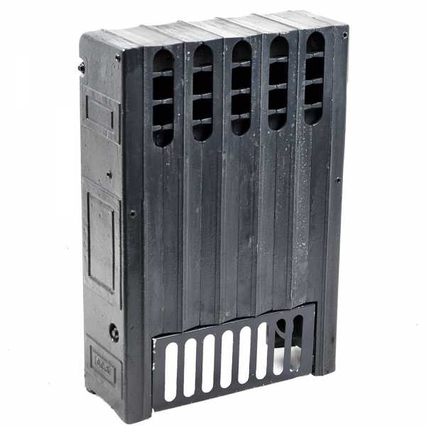 """6-Section, 5"""" x 20"""" Cast Iron Radiator, Free-Standing, Ray style"""