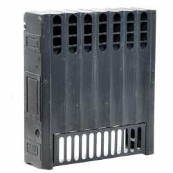 """8-Section, 5"""" x 20"""" Cast Iron Radiator, Free-Standing, Ray style"""