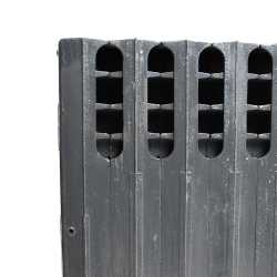 "10-Section, 5"" x 20"" Cast Iron Radiator, Free-Standing, Ray style"