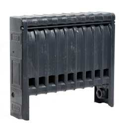 """10-Section, 5"""" x 20"""" Cast Iron Radiator, Free-Standing, Ray style"""