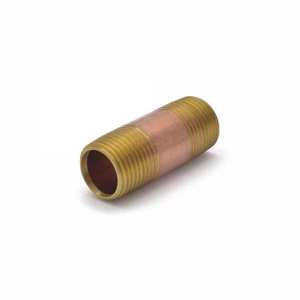 "Everhot RB-012X2 1/2"" x 2"" Brass Pipe Nipple"