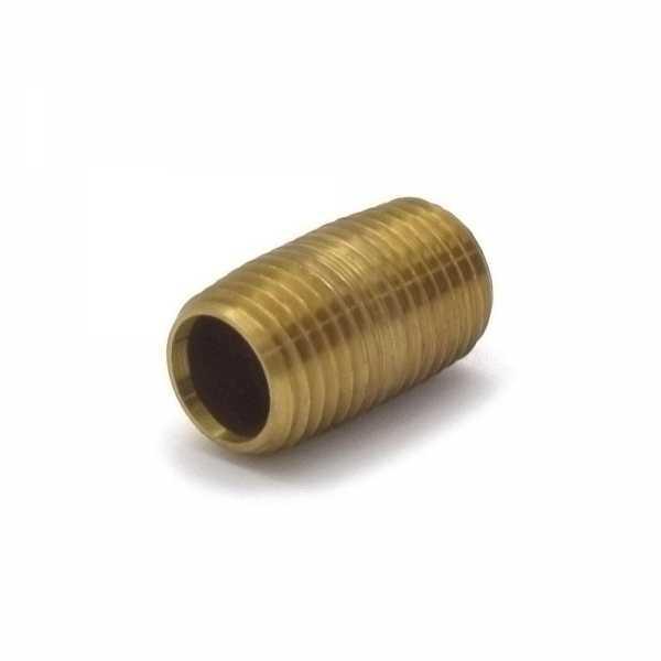 "1/4"" x Close Brass Pipe Nipple"