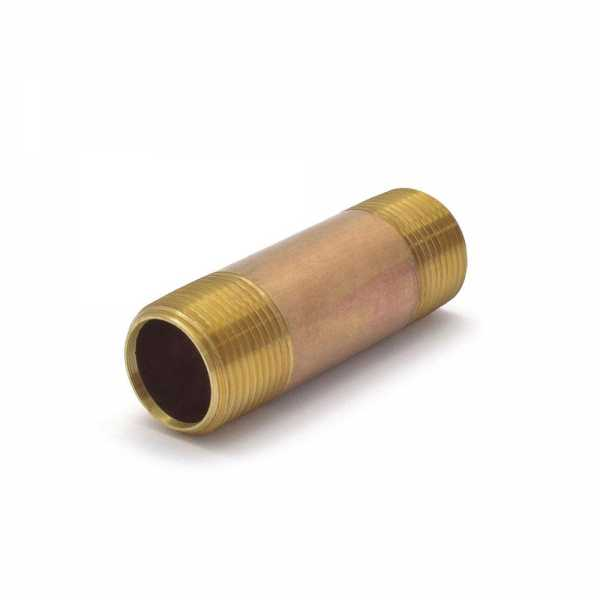 "Everhot RB-034X3 3/4"" x 3"""" Brass Pipe Nipple"
