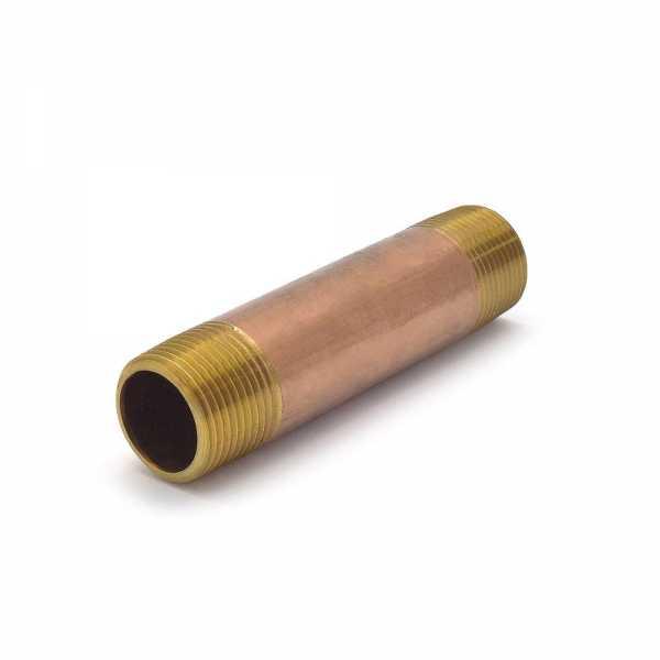 "Everhot RB-034X4 3/4"" x 4"" Brass Pipe Nipple"