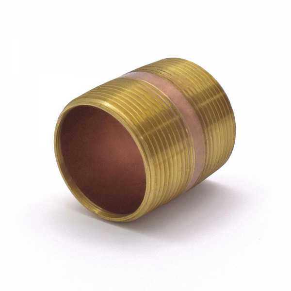 "Everhot RB-112X2 1-1/2"" x 2"" Brass Pipe Nipple"