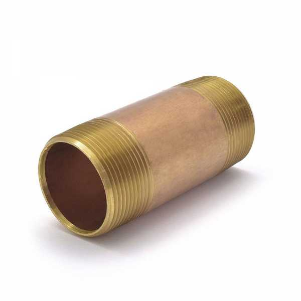 "1-1/2"" x 4"" Brass Pipe Nipple"