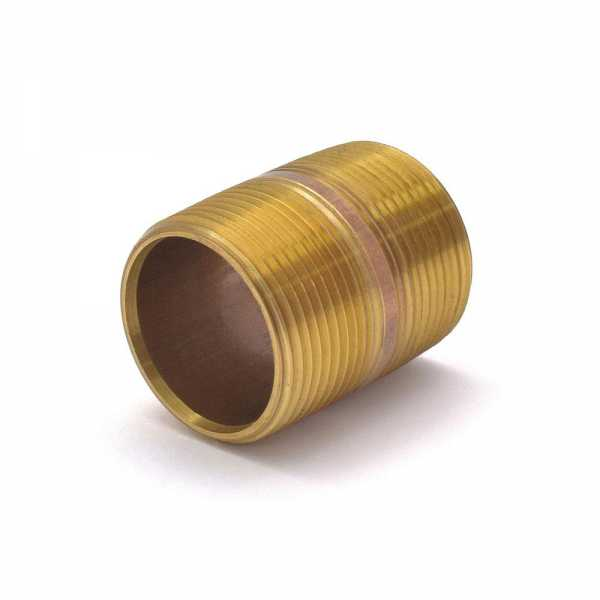 "Everhot RB-114X2 1-1/4"" x 2"" Brass Pipe Nipple"