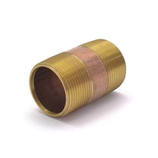 "1-1/4"" x 2-1/2"" Brass Pipe Nipple"