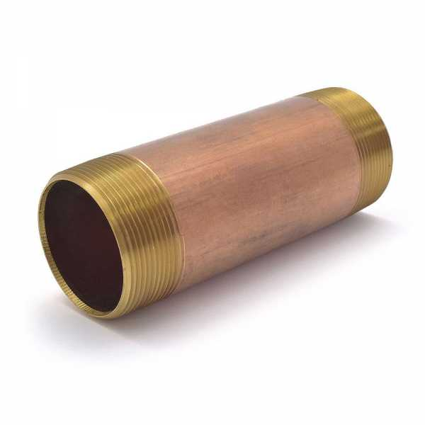 "2"" x 6"" Brass Pipe Nipple"