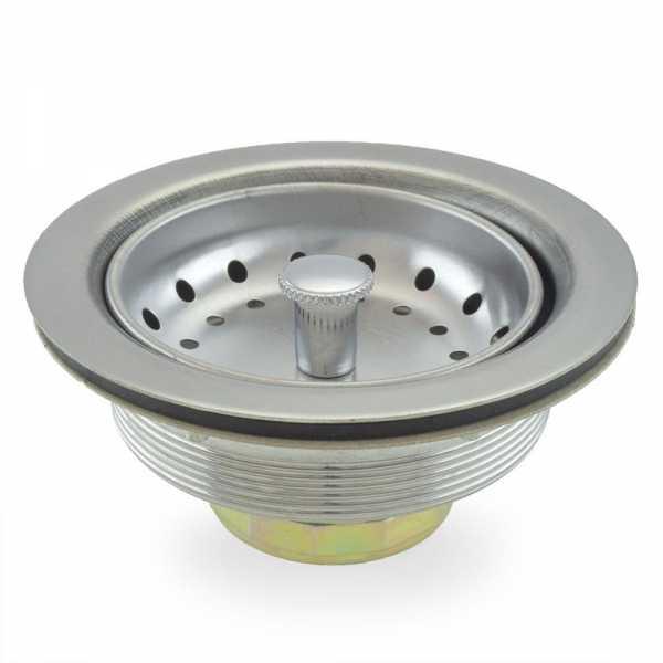 St. Steel Kitchen Sink Drain Strainer w/ Fixed Stick Post Basket