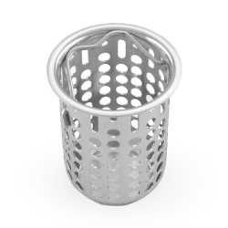 St. Steel Junior Deep Bar Sink Drain Strainer w/ Basket