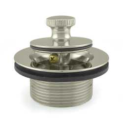 Bathtub Lift & Turn Drain, Satin Nickel w/ Locknut