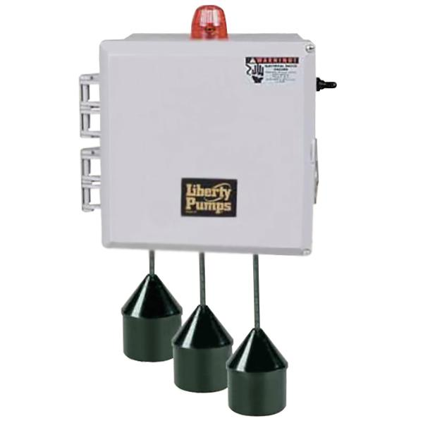 """Liberty Pumps SX34=3-131 3 Phase SX Series Simplex Pump Control w/ Wide Angle Float Switch, 20"""" Cord  (1.6 - 2.5 Amp; 208V ~ 240V)"""