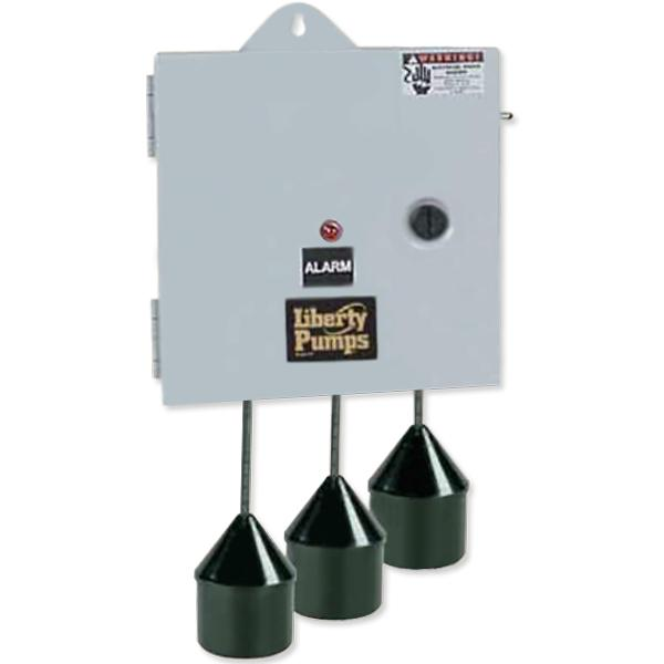"""Liberty Pumps SXH21=3  Single Phase SX Series Simplex Pump Control w/ Wide Angle Float Switch, 20"""" Cord  (15 - 20 Amp; 110V ~ 120V)"""