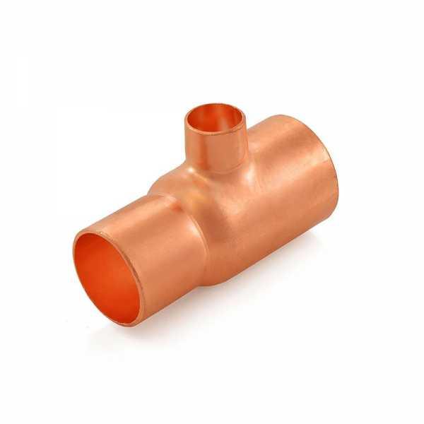 "1-1/4"" x 1"" x 1/2"" Copper Tee"