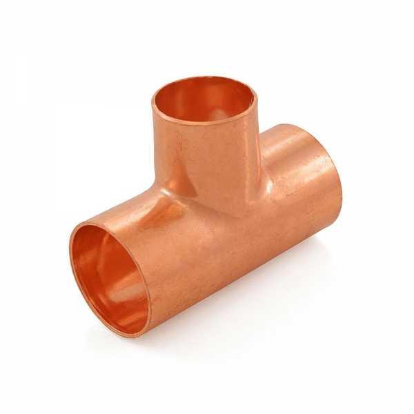 "1-1/4"" x 1-1/4"" x 1"" Copper Tee"