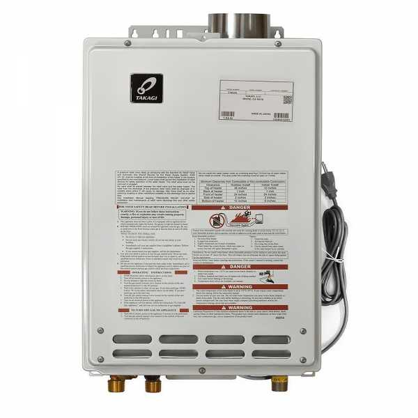 Indoor Tankless Water Heater, Natural Gas, 190K BTU