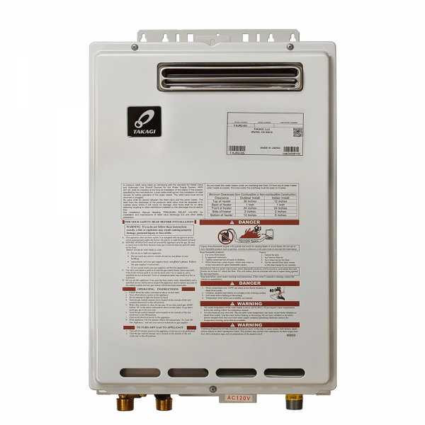 Outdoor Tankless Water Heater, Natural Gas, 140K BTU