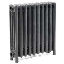 "10-Section, 4"" x 19"" Cast Iron Radiator, Free-Standing, Slenderized/Tube style"