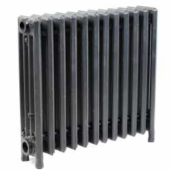"12-Section, 4"" x 19"" Cast Iron Radiator, Free-Standing, Slenderized/Tube style"