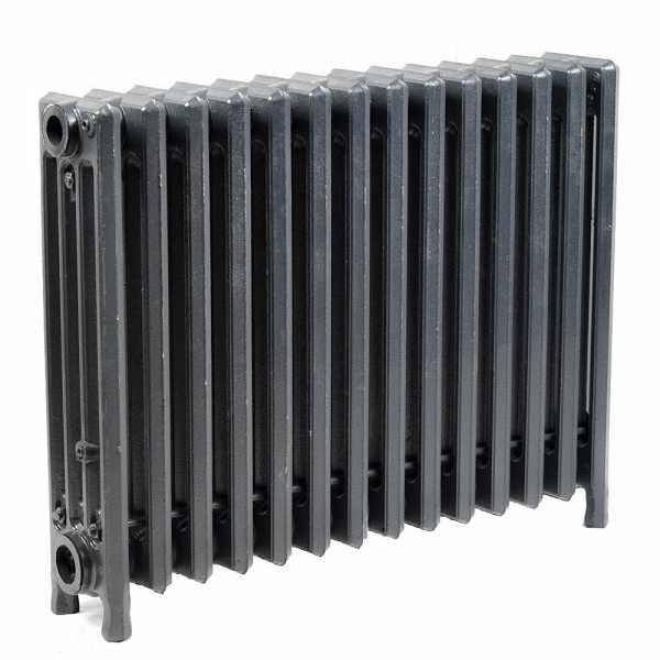 "14-Section, 4"" x 19"" Cast Iron Radiator, Free-Standing, Slenderized/Tube style"