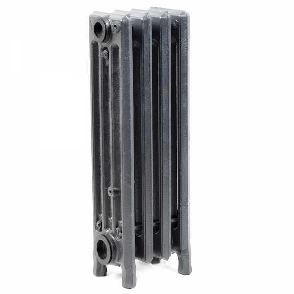 "4-Section, 4"" x 19"" Cast Iron Radiator, Free-Standing, Slenderized/Tube style"
