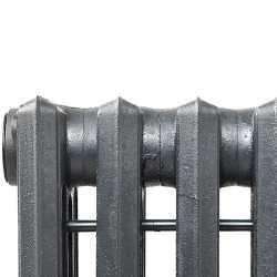 "6-Section, 4"" x 19"" Cast Iron Radiator, Free-Standing, Slenderized/Tube style"