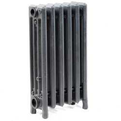 "6-Section, 4"" x 19"" Cast Iron Radiator, Free-Standing, Slenderized/Tube style"