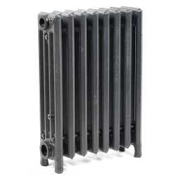 "8-Section, 4"" x 19"" Cast Iron Radiator, Free-Standing, Slenderized/Tube style"