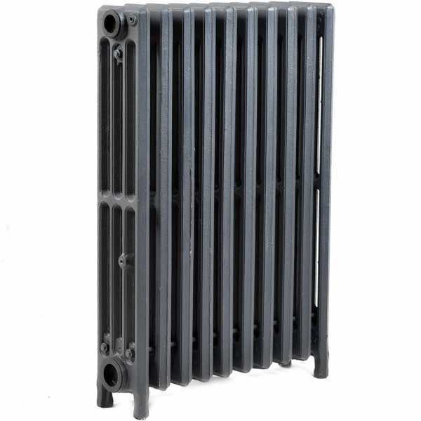 "10-Section, 4"" x 25"" Cast Iron Radiator, Free-Standing, Slenderized/Tube style"