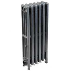 "6-Section, 4"" x 25"" Cast Iron Radiator, Free-Standing, Slenderized/Tube style"