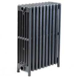 "10-Section, 6"" x 25"" Cast Iron Radiator, Free-Standing, Slenderized/Tube style"