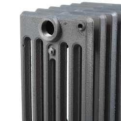 "10-Section, 6"" x 25"" Cast Iron Radiator, Free-Standing, Slenderized/Tube style"