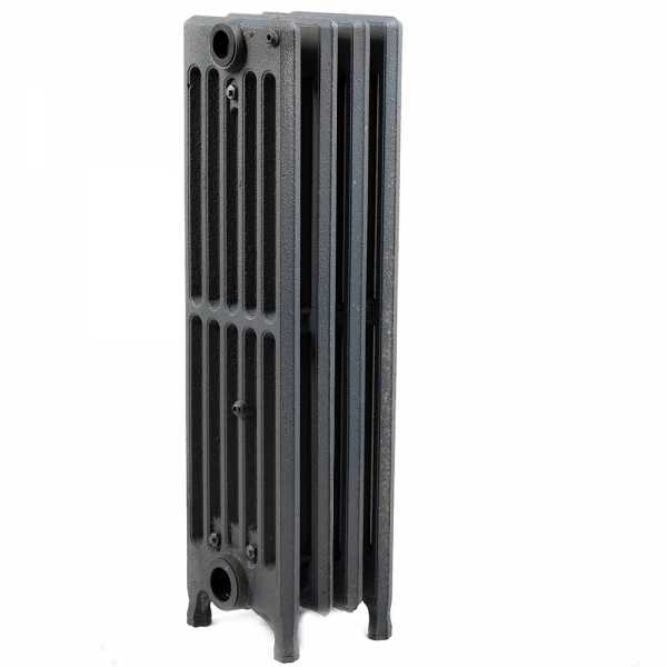 "4-Section, 6"" x 25"" Cast Iron Radiator, Free-Standing, Slenderized/Tube style"