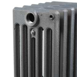 "6-Section, 6"" x 25"" Cast Iron Radiator, Free-Standing, Slenderized/Tube style"