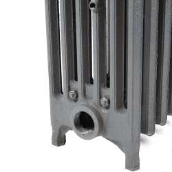 "8-Section, 6"" x 25"" Cast Iron Radiator, Free-Standing, Slenderized/Tube style"