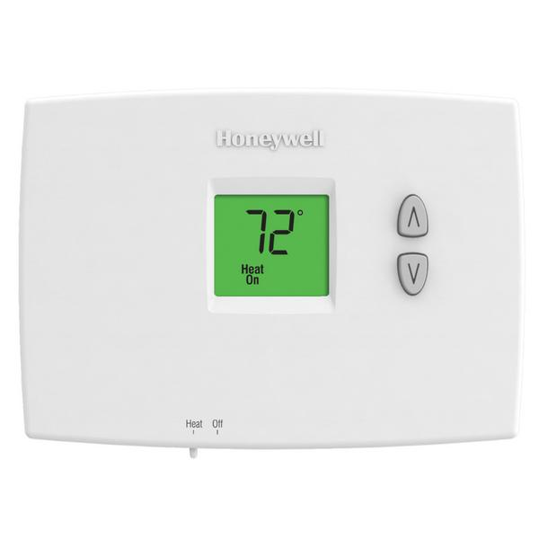 Honeywell TH1100DH1004 PRO 1000 Series Non Programmable Heat Only Thermostat, Settable Selectable Heat: 40 F to 90 F or 35 F to 90 F