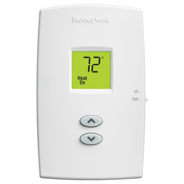 Honeywell TH1100DV1000 PRO 1000 Series Non Programmable Heat Only Thermostat, Settable Selectable Heat: 40 F to 90 F or 35 F to 90 F