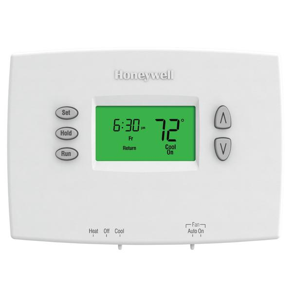 Honeywell TH2110DH1002 PRO 2000 Series 5-2 Day Programmable Single Stage Thermostat, Settable Heat: 40 to 90 F; Cool: 50 to 99 F