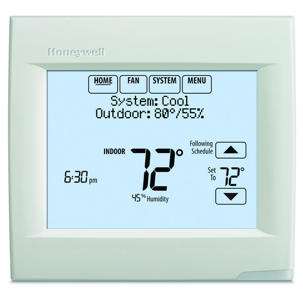 Honeywell TH8321R1001 VisionPRO 8000 Series 7 Day Programmable MultiStage Thermostat, Settable Heat: 40 F to 90 F; Cool 50 F to 99F